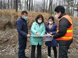 副总经理刘晓婕赴来安公路建设工程调研现场...